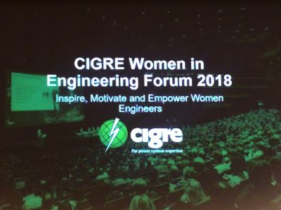 Femtec.Alumna Stefanie Heinig beim CIGRE Women in Engineering (WIE) Forum