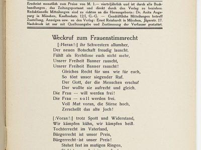 19. Dezember – 100 Jahre Frauenwahlrecht in Deutschland – unsere Verantwortung!