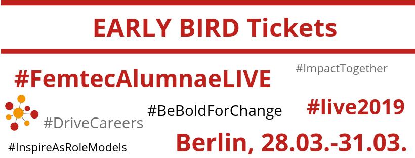 6 dezember femtec alumnae live 2019 early bird tickets. Black Bedroom Furniture Sets. Home Design Ideas